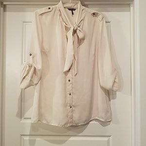 Daisy Fuentes Tops - Silky Military Style Top